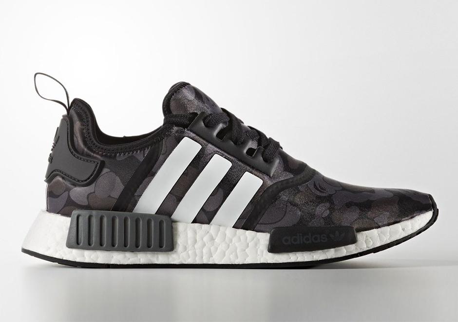 Bape x Adidas NMD R1 Black Grey