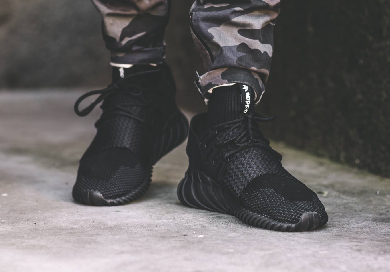 Cheap Price Cheap Adidas Tubular Doom PK Kith Grey White Shoes For
