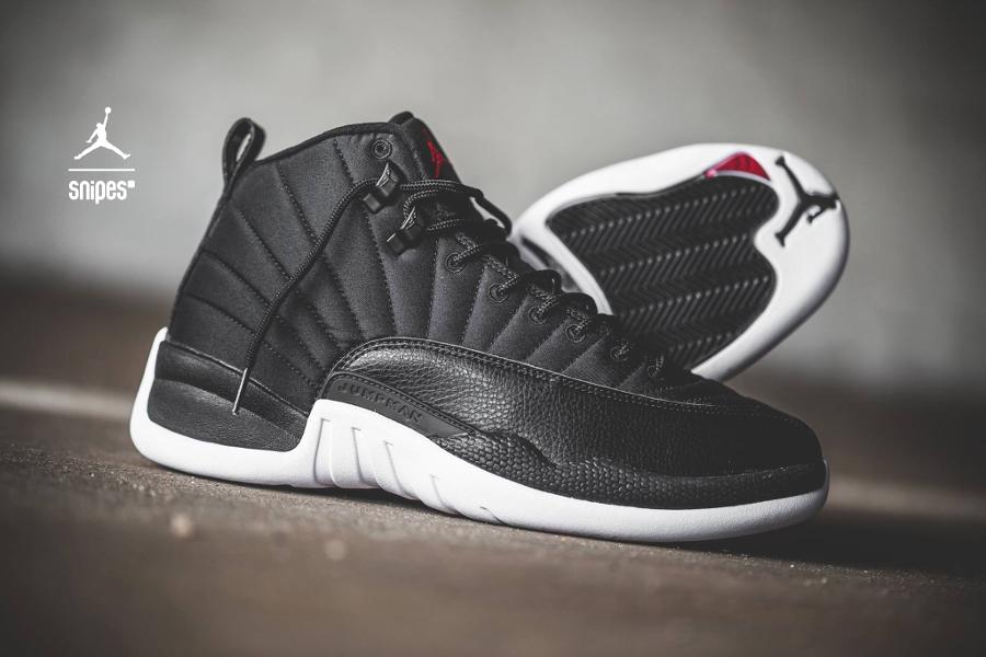 basket-air-jordan-12-retro-premium-black-nylon-3