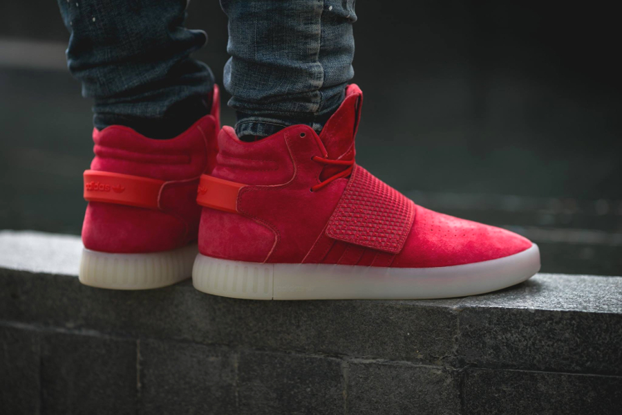 Chaussure Adidas Tubular Invader Strap Red (rouge) (2)
