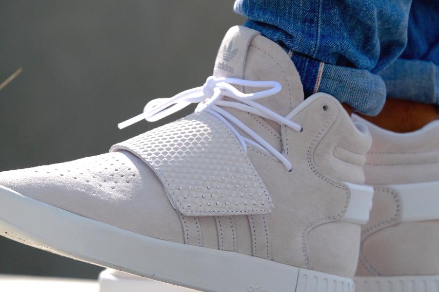 Chaussure Adidas Tubular Invader Strap White (blanche) (1)