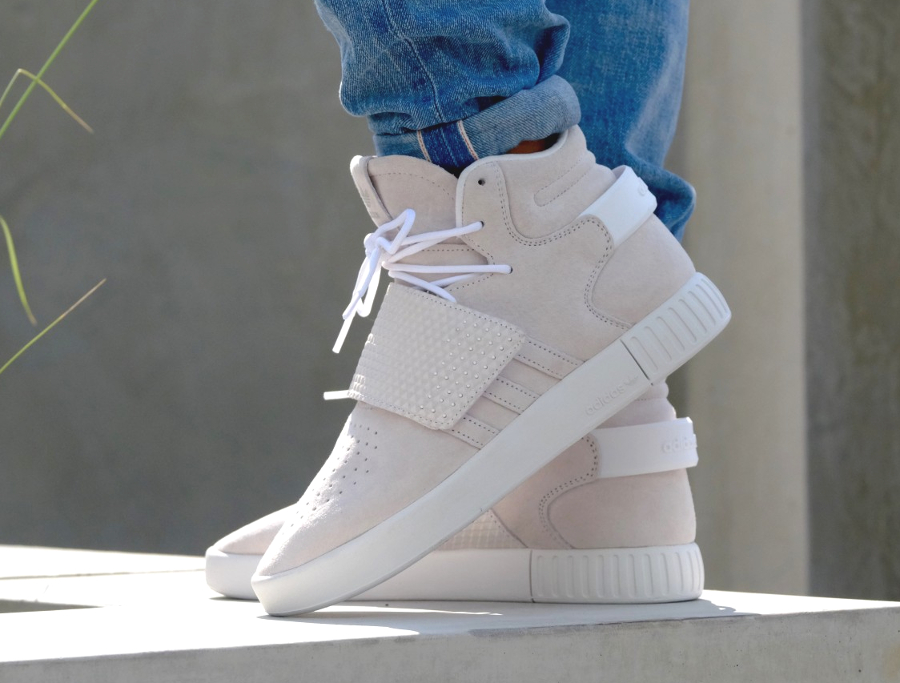 separation shoes aefa5 ee8bc Chaussure Adidas Tubular Invader Strap White (blanche) (2)