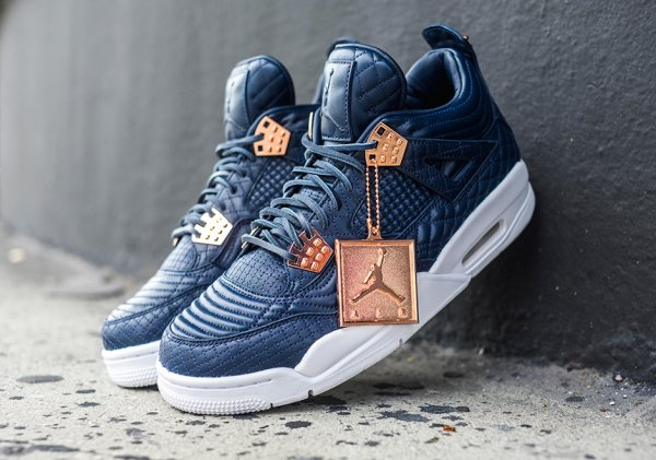 Air Jordan 4 PRM 'Navy/White' (First Class Flight)