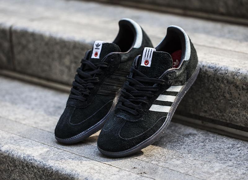Chaussure Livestock x Adidas Samba Black Suede (1)