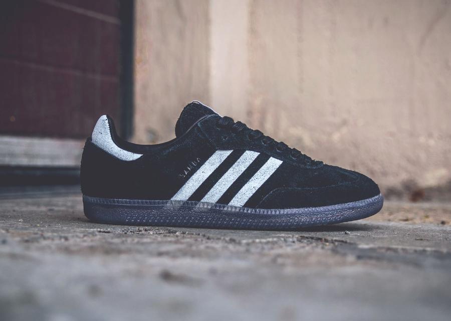 Chaussure Livestock x Adidas Samba Black Suede (5)
