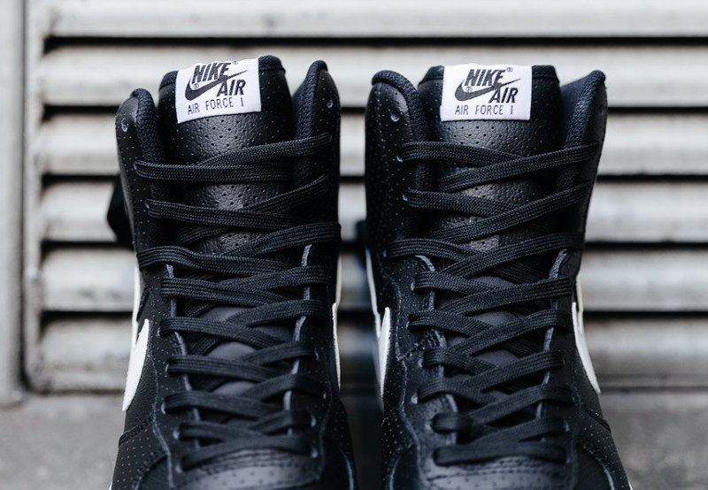 Chaussure Nike Air Force 1 High 07 Perf Black (2)