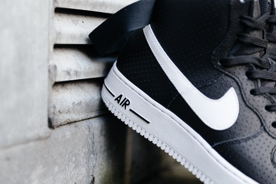Chaussure Nike Air Force 1 High 07 Perf Black (4)