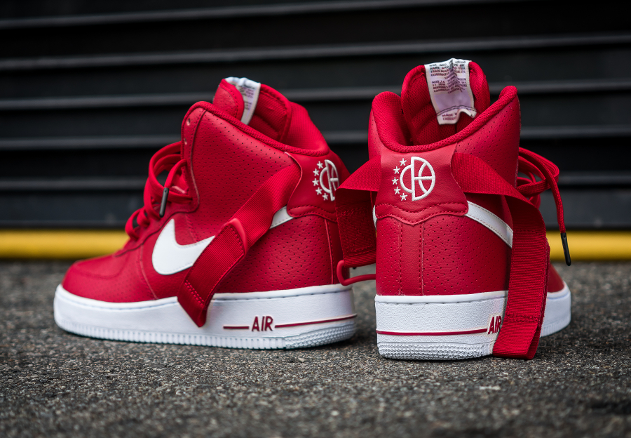 Chaussure Nike Air Force 1 High 07 Perf Gym Red (3)