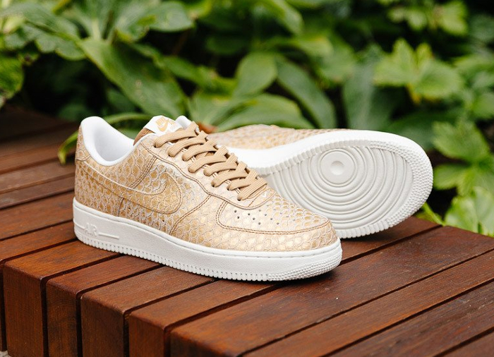 Nike Air Force 1 Low '07 'Gold Snakeskin'