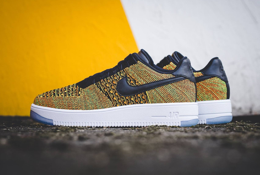 Nike Air Force 1 Low Ultra Flyknit 'Volt Black Orange'