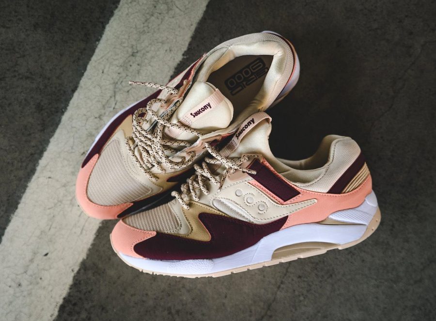 Saucony Grid 9000 'Cream/Red' & 'Light Tan/Mint'