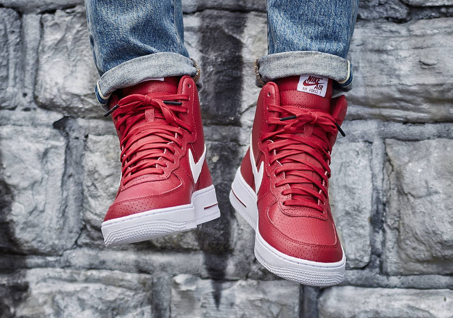 avis basket Nike Air Force 1 High 07 Perf Gym Red Dream Team (rouge) (1)