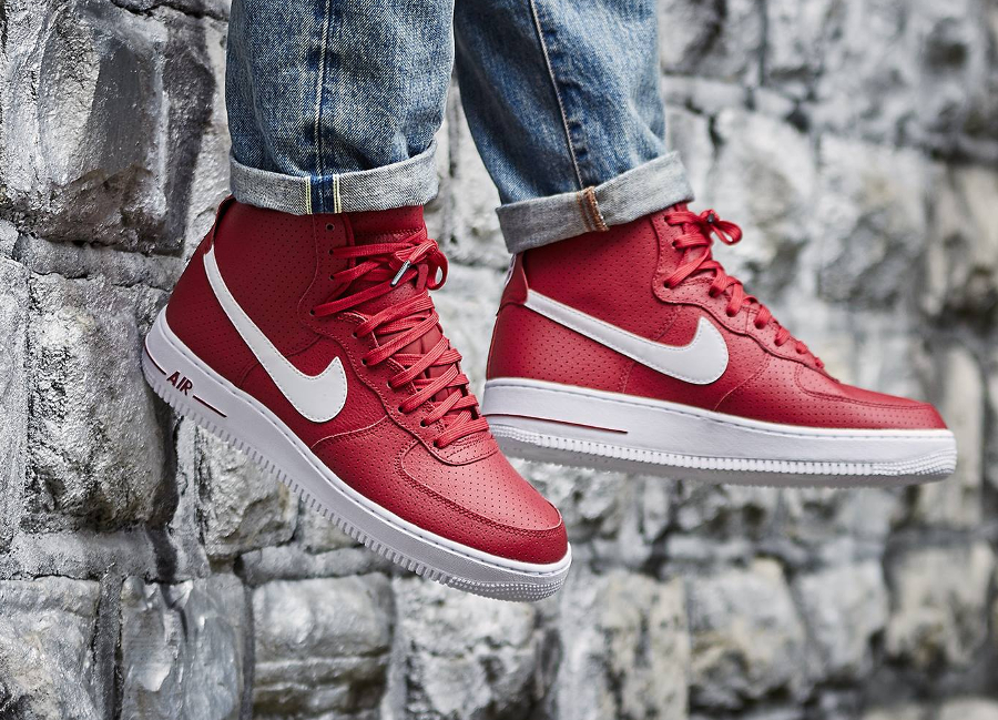 avis basket Nike Air Force 1 High 07 Perf Gym Red Dream Team (rouge) (2)