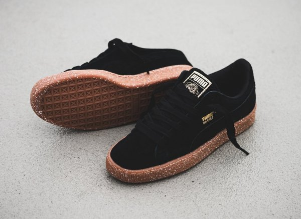 Careaux x Puma Basket Black 'Speckled Midsole'