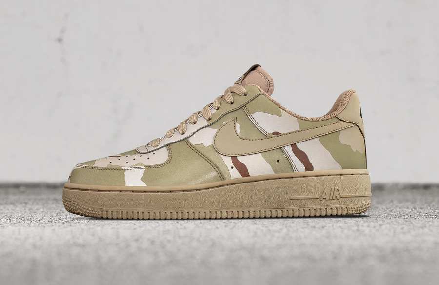 f819667eb1ac6 Nike Air Force 1 Low 07 LV8 Sand  Desert  Camo Reflective