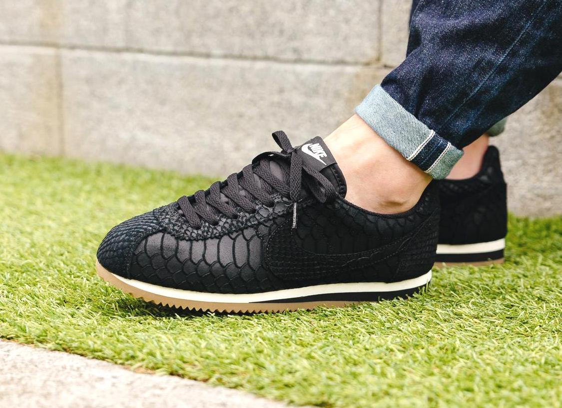 7f86091540d Où trouver Nike Classic Cortez Leather  Anaconda  Black Gum