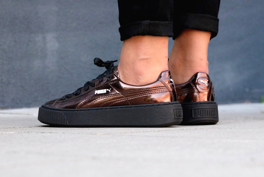 puma creepers cuivre
