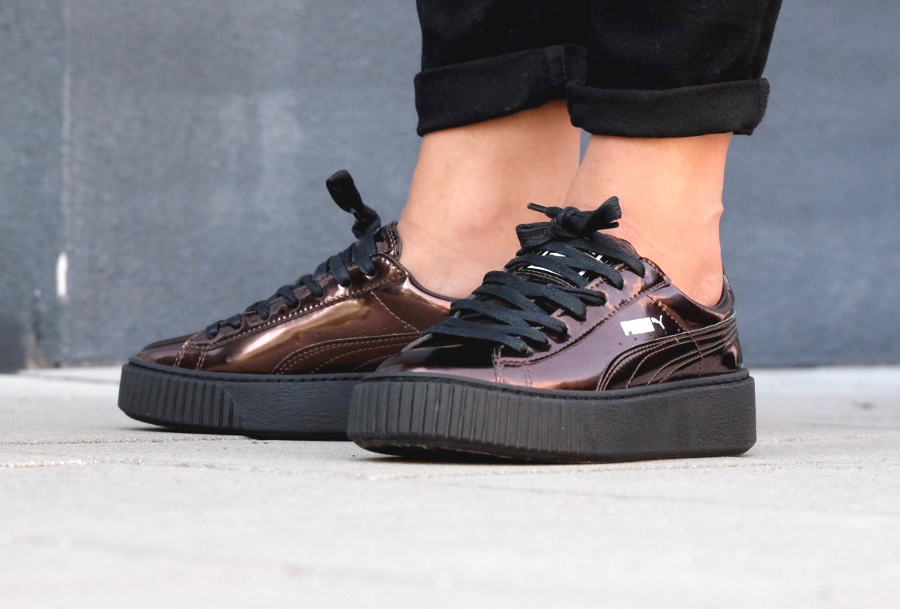 puma creepers metallic