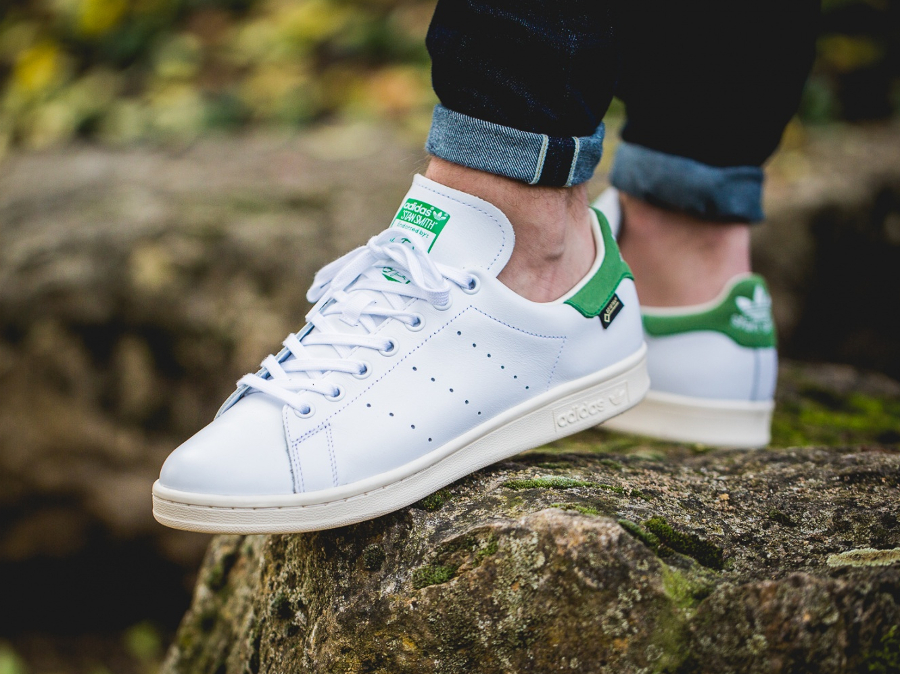 chaussure-adidas-stan-smith-impermeable-blanche-et-verte-1