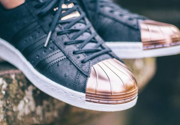 Adidas Superstar W Metal Toe 'Black Ostrich Leather'