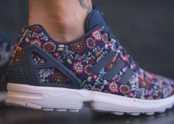 The Farm Company x Adidas ZX Flux W 'Floral' St Dark Slate