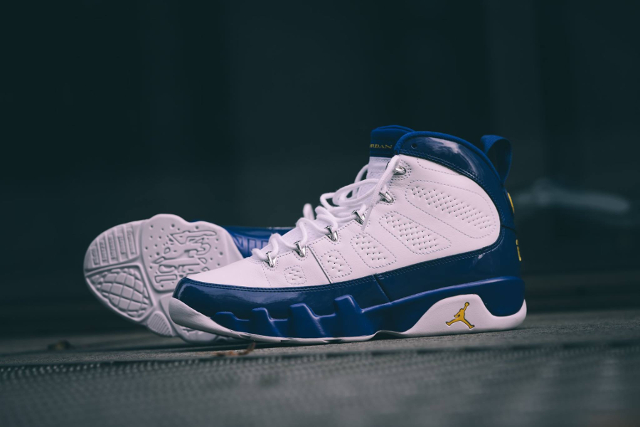 new concept 3b33a f6577 chaussure-air-jordan-9-premium-lakers-player-exclusive-