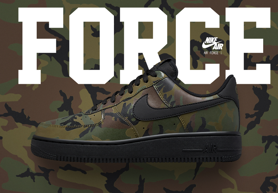 Nike Air Force 1 Low '07 Camo Reflective 'Olive'