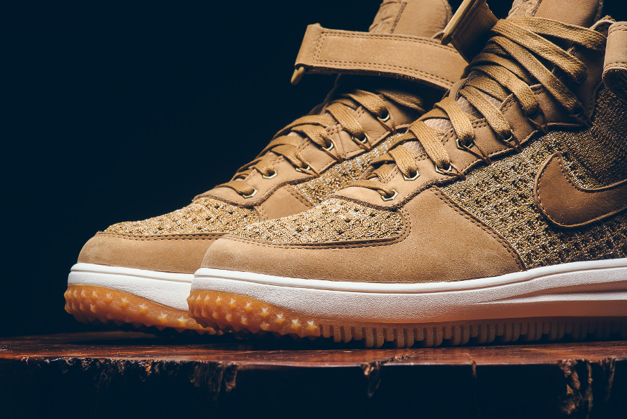 Nike Lunar Force 1 Flyknit Workboot 'Flax' Golden Beige