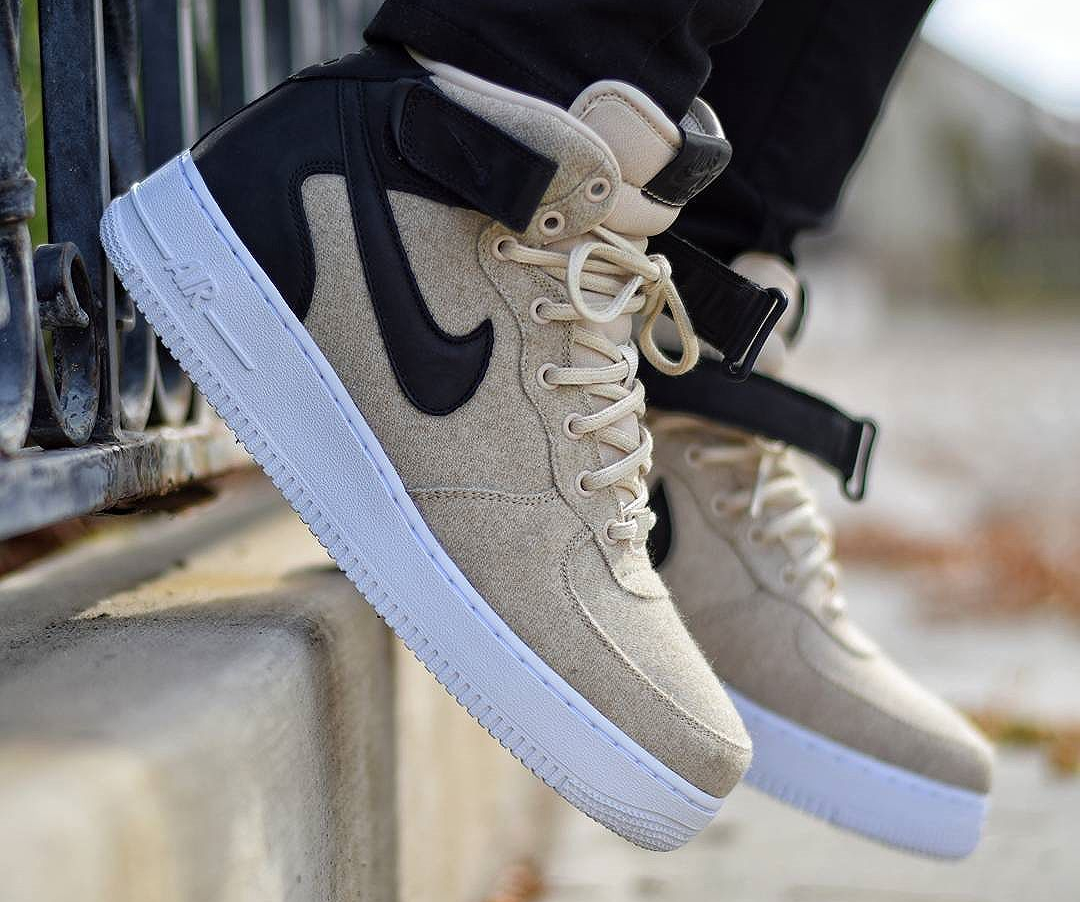 Où trouver la Nike Wmns Air Force 1 07 Mid PRM 'Wool' Oatmeal ?