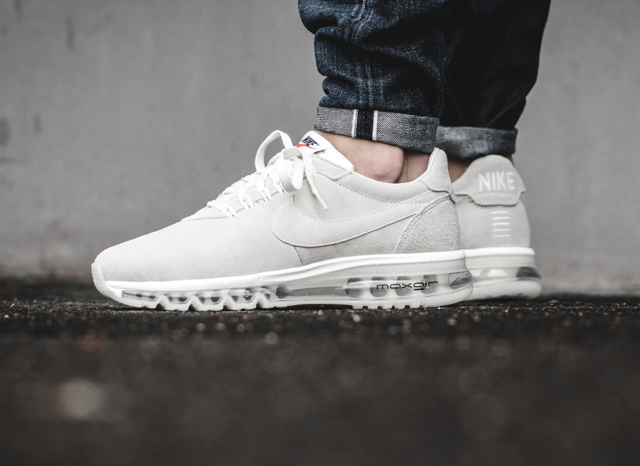 nike air max ld zero suede baskets blanc
