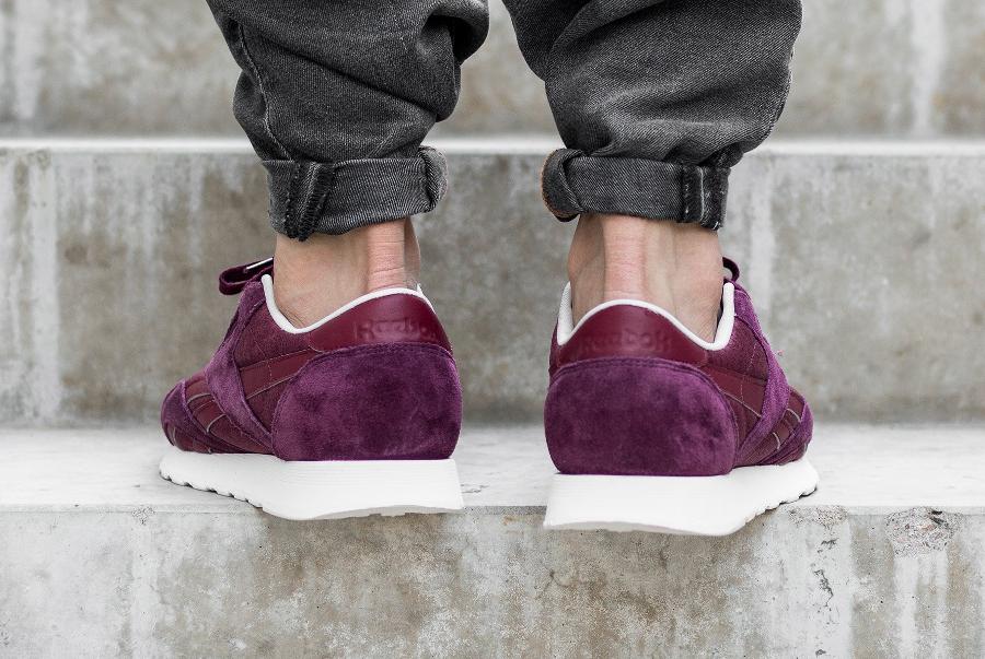 chaussure-reebok-classic-nylon-bordeaux-2