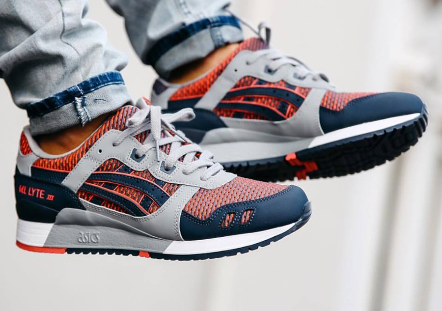 pretty nice dc6a9 83f3c asics gel lyte iii blue print orange