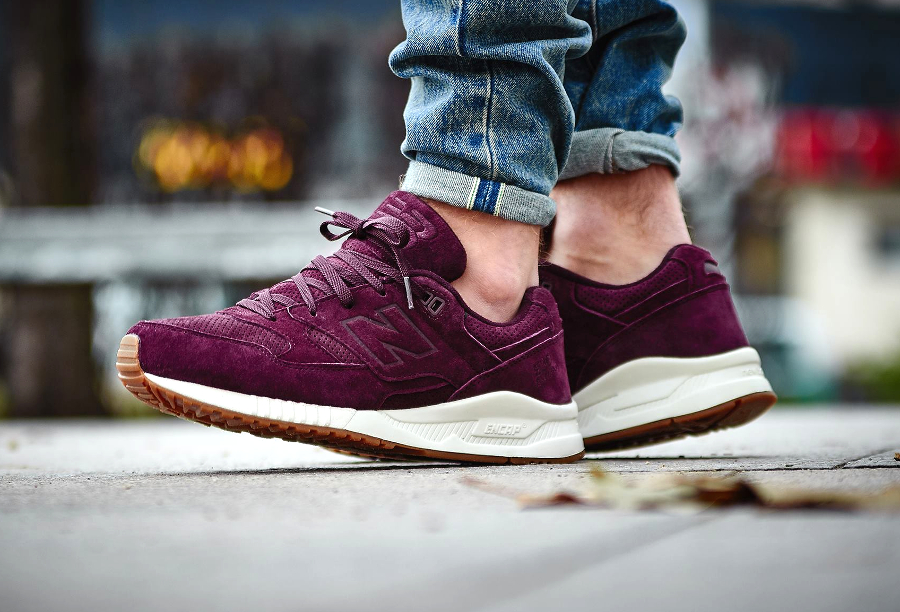 new balance 530 burgundy suede