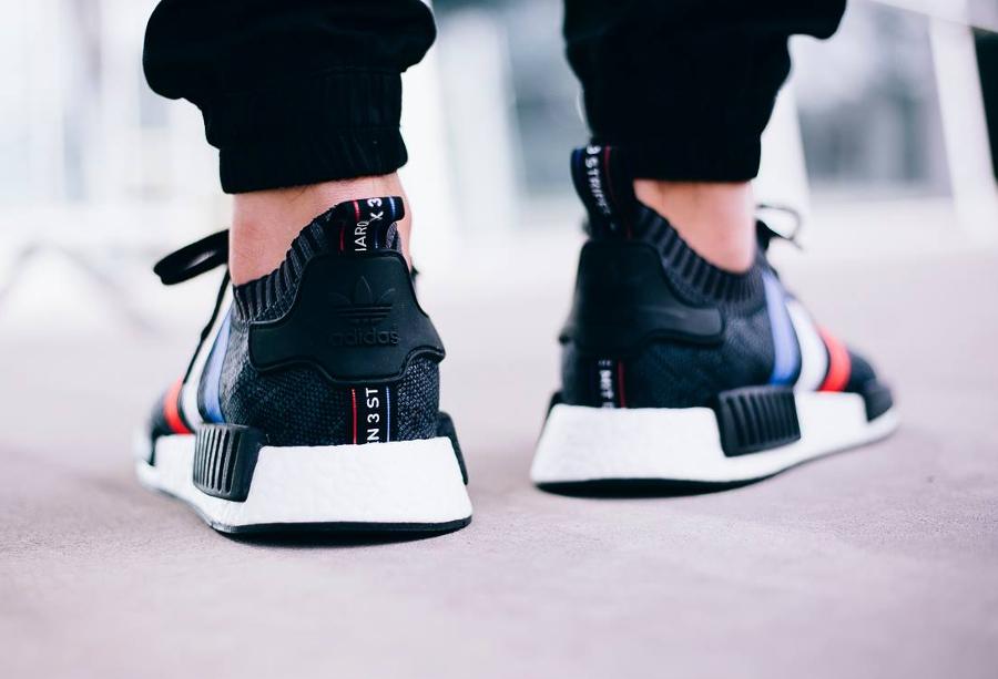 chaussure-adidas-nmd-r1-primeknit-tri-color-noire-2