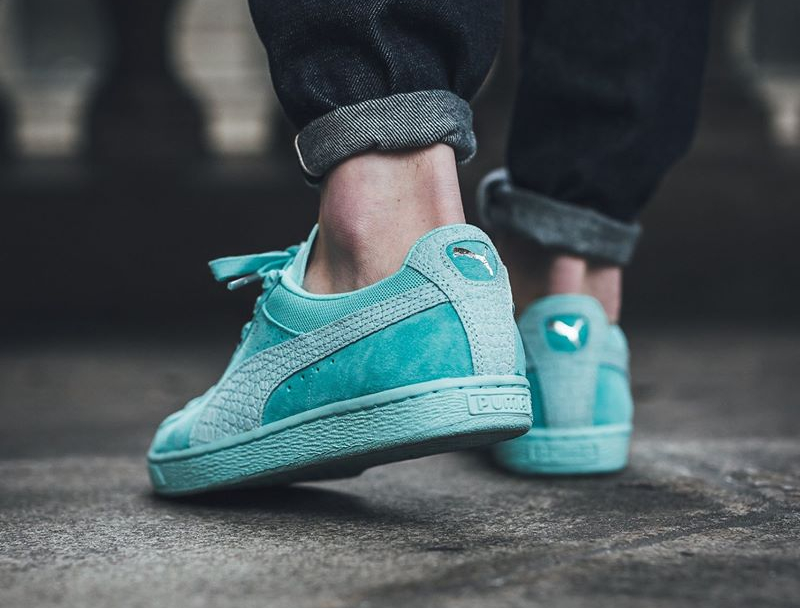 Puma Suede Classic Croc Diamond Supply  Turquoise  Aruba Blue 6f49db6ac