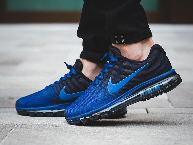 acheter populaire 13858 3bebb Nike Air Max 2017 'Black Deep Royal Blue' (homme)