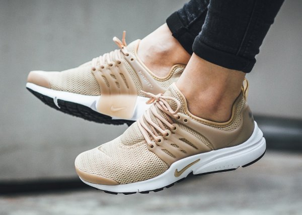 nike air presto 39 beige 39 linen femme sneakers actus. Black Bedroom Furniture Sets. Home Design Ideas