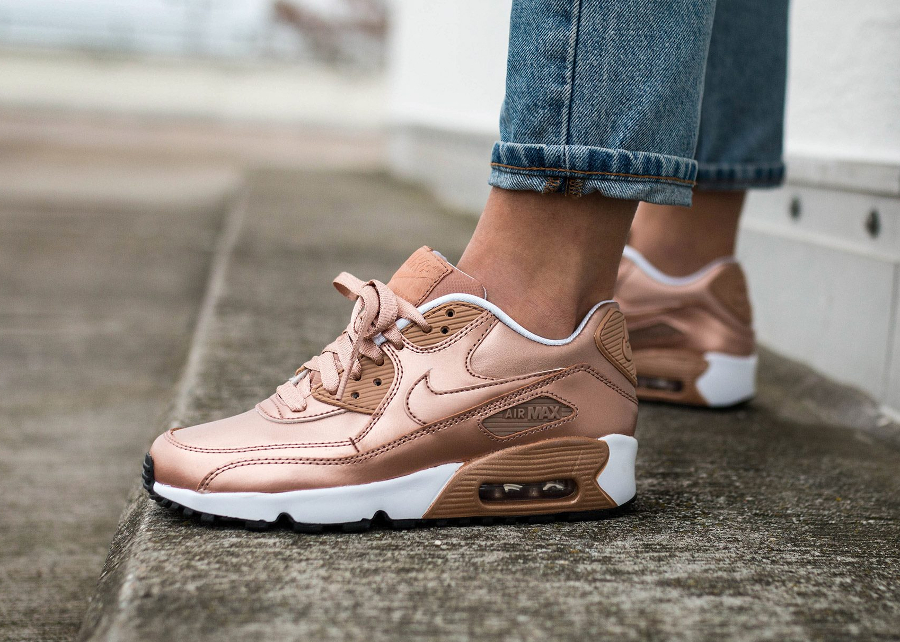 meilleure sélection 3d056 b6e2d Nike Air Max 90 Leather SE Metallic Red Bronze 'Rose Gold ...