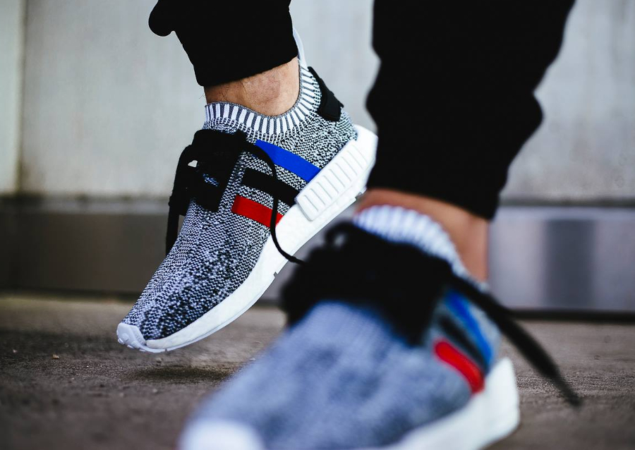 image basket adidas nmd r1 pk primeknit white tricolore les