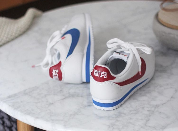 Nike Cortez Leather 'Nai ke' White Varsity Red (quickstrike)