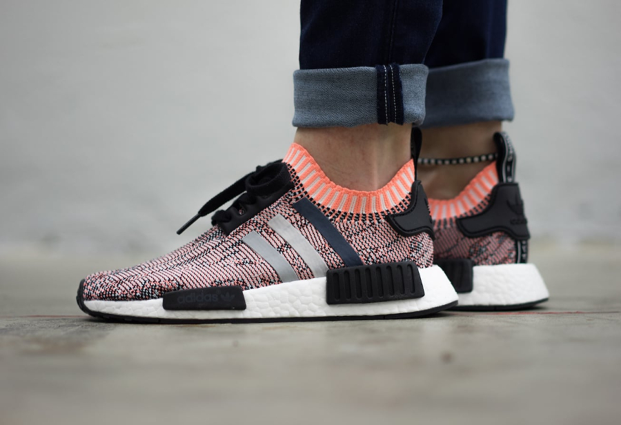 Addias NMD Salmon Pink Peach Nomad Boost Size: 6 (Clothing