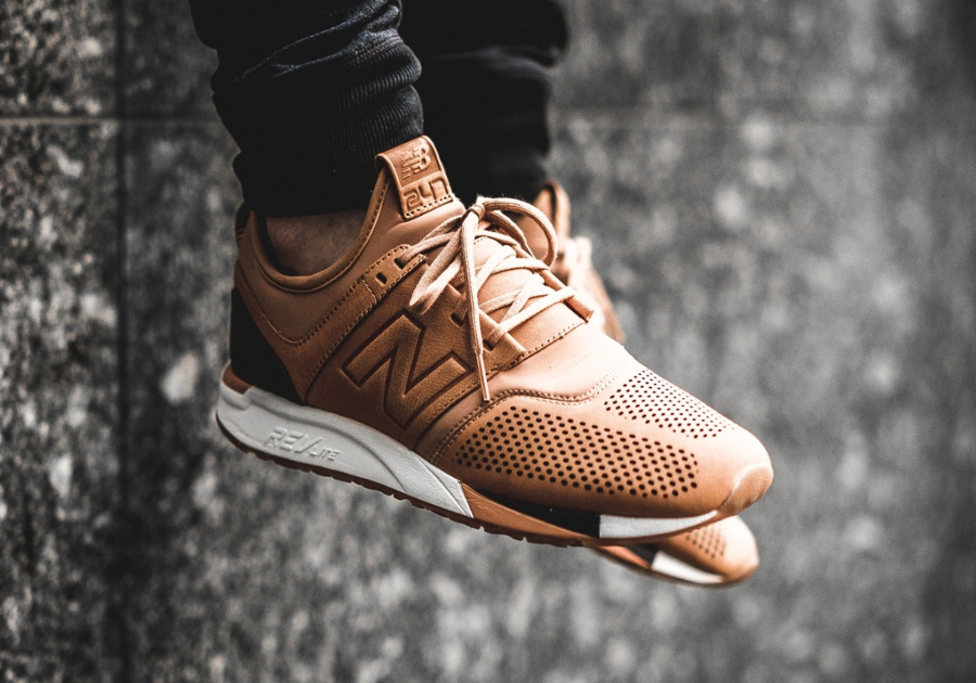 baskets new balance marron
