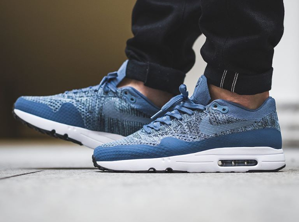 nike air max 1 baskets bleu