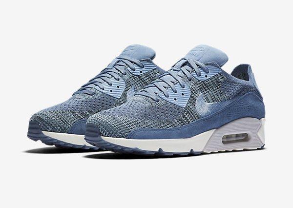 Nike Air Max 90 Flyknit 'Fog Blue'