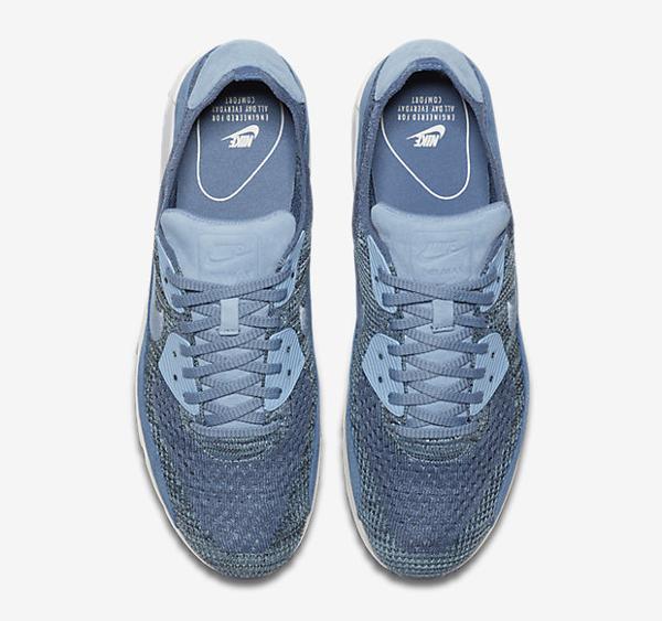 Basket Nike Air Max 90 Flyknit 'Fog Blue' (5)