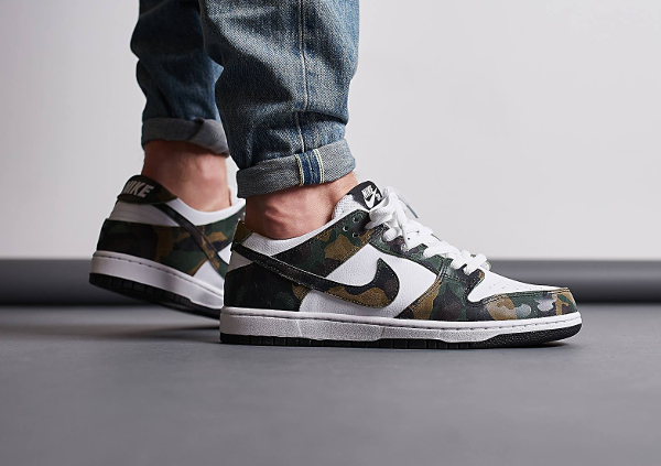 Basket Nike Dunk Low Pro SB Camo Green (quickstrike) (1)