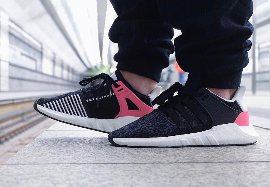 Chaussure Adidas EQT Support 93 17 Boost Turbo Pink homme (1)