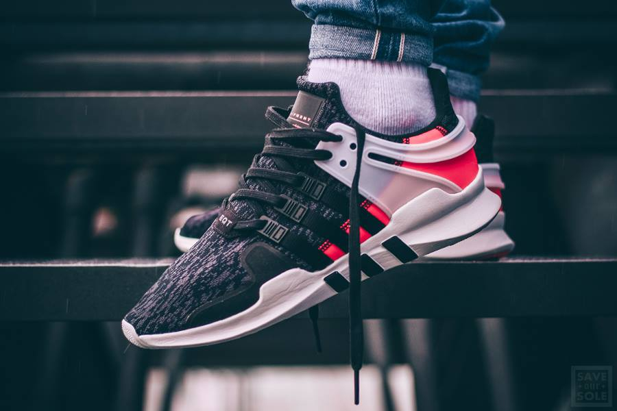 Chaussure Adidas EQT Support ADV Black Turbo Red (Hot Lava) (1-1)