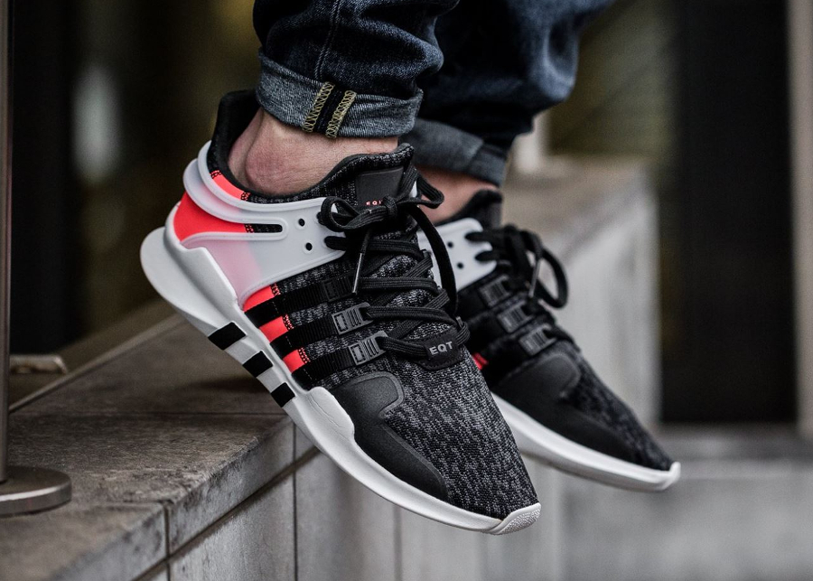 Chaussure Adidas EQT Support ADV Black Turbo Red (Hot Lava) (1)
