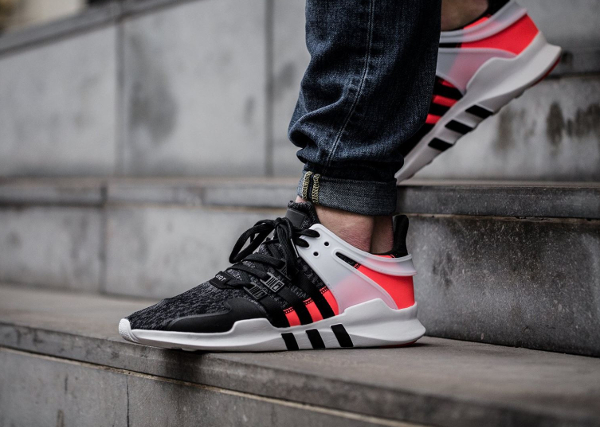 Chaussure Adidas EQT Support ADV Black Turbo Red (Hot Lava) (4)